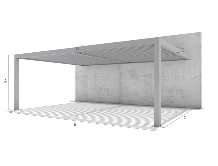 Duplex 2 parallele kolonner (mot vegg)